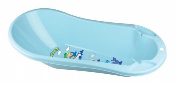 Ванна детская с клапаном для слива воды и аппликацией 46 л Пластишка