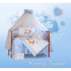 Комплект в кроватку  Happy Friends (6 предметов) Tuttolina