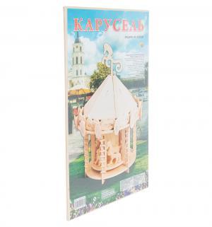 Сборная деревянная модель  Карусель Рыжий кот