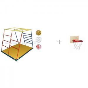 Детский спортивный комплекс Люкс базовая комплектация и Баскетбольное кольцо со щитом Ранний старт
