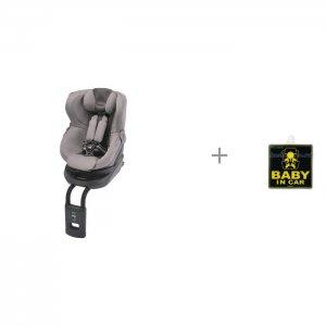 Автокресло  Kurutto 4i Isofix и наклейка информационная Child in Car sticker Carmate