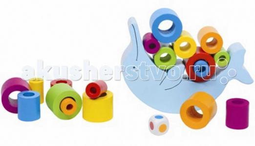 Деревянная игрушка  Игра Нагрузи дельфина Goki