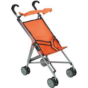 Коляска-трость для кукол Buggy Boom, оранжевая Melobo. Цвет: оранжевый