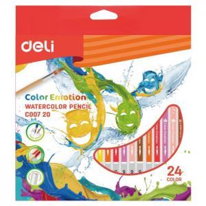 Карандаши цветные акварельные ColoRun 24 цвета Deli
