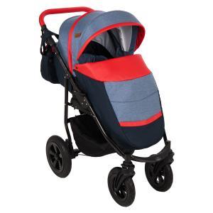 Прогулочная коляска  Panda NEW, цвет: темно-синий/синий/красный Prampol