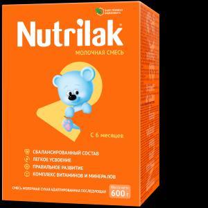 Молочная смесь  2 6-12 месяцев, 600 г Nutrilak