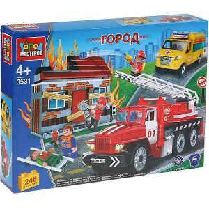 Конструктор  Пожарная служба Спасение на пожаре с фигурками, 248 деталей Город мастеров