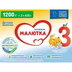 Детское молочко  3 с 12 месяцев, 1200 г Малютка