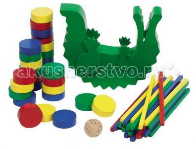 Деревянная игрушка  Нагрузи крокодила Goki