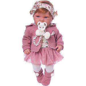 Кукла-пупс  Саманта в розовом, 40 см Munecas Antonio Juan. Цвет: розовый