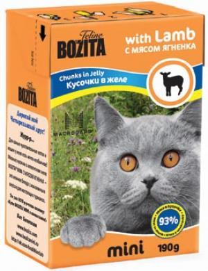 Влажный корм  Mini для взрослых кошек, ягненок, 190г Bozita