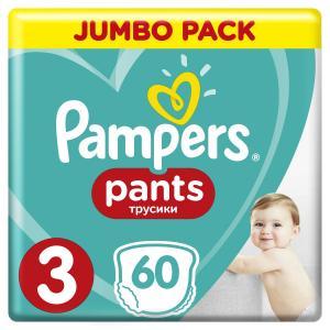 Трусики-подгузники  Pants, р. 3, 6-11 кг, 60 шт Pampers