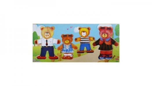 Игра-пазл Четыре медведя QiQu Wooden Toy Factory