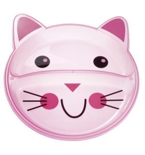 Тарелка  Animals Забавные животные, цвет: розовый Canpol