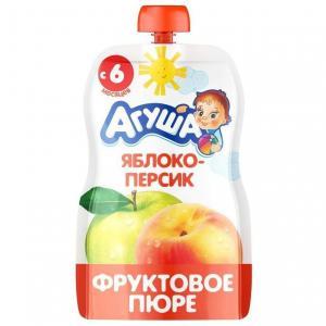 Пюре  я сам яблоко-персик с 8 месяцев, 90 г Агуша
