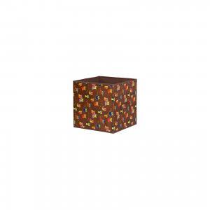 Кофр складной для хранения 31*31*31 см. Совы на ветках коричневом,квадрат, EL Casa