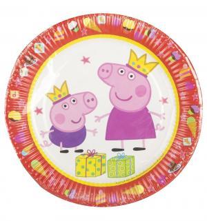 Бумажные тарелки  Пеппа-принцесса 18 см Peppa Pig