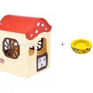 Игровой домик Ching-Ching Грибок-теремок и Бассейн Три Кота с надувным дном BabyOne