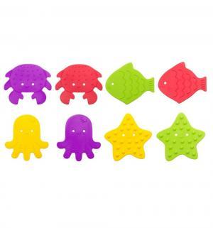 Коврики-мини  для ванны (8 шт), цвет: разноцветный Roxy-kids