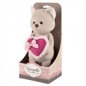 Мягкая игрушка  Романтичный котик с розовым сердечком 20 см Maxitoys