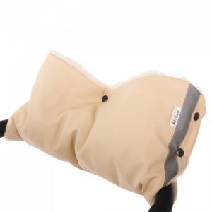 Муфта для рук на коляску (мех/экокожа) Pituso