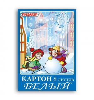 Картон А4 8 листов  Снежная королева Пифагор