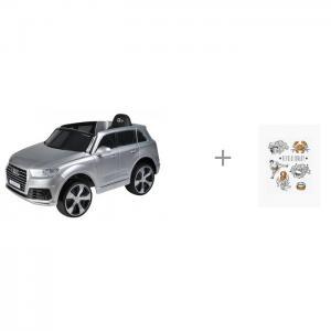 Электромобиль  Audi Q7 JJ555 и татуировки переводные Happy Baby 50602 Farfello