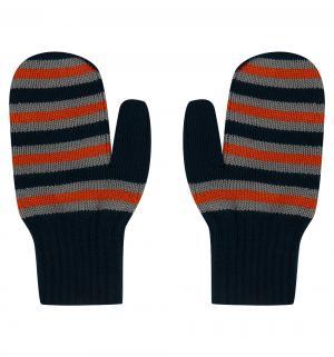 Варежки , цвет: оранжевый/синий Чудо-кроха