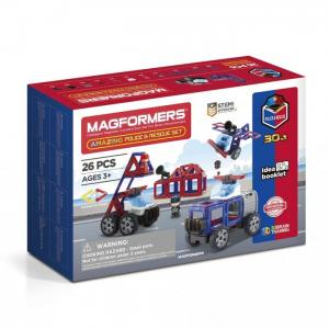 Конструктор  Магнитный Amazing Police & Rescue Set Magformers