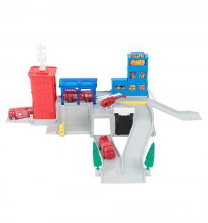 Игровой набор  Пожарная станция с 3 машинками и вертолетом Играем Вместе