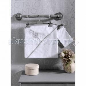 Комплект полотенце-уголок + варежка Blossom Saten Vanilla Kidboo