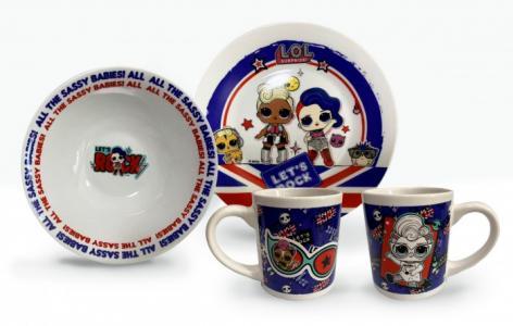 ND Play Набор посуды L.O.L. Rock из фарфора (3 предмета) НаборпосудыL.O.L.Rockиз (3предмета)