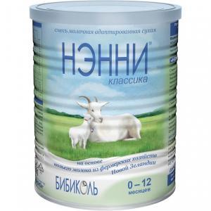 Молочная смесь  Классика на козьем молоке гипоаллергенная 0-12 месяцев, 400 г Нэнни
