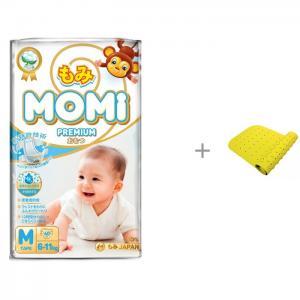 Premium Подгузники M (6-11 кг) 60 шт. с ковриком для ванны ROXY-KIDS Momi