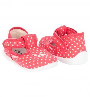 Туфли текстильные , цвет: белый/красный El Tempo