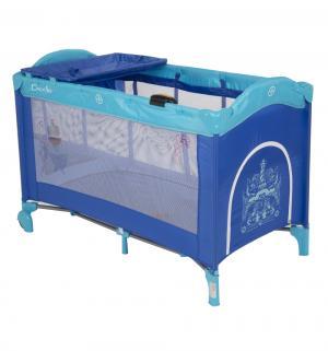 Манеж-кровать  Sweet Time Whale/Dinosaur, цвет: синий Capella