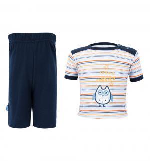 Комплект футболка/шорты , цвет: синий Aga