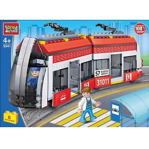 Конструктор  Транспорт Новый трамвай, 327 деталей Город мастеров. Цвет: разноцветный