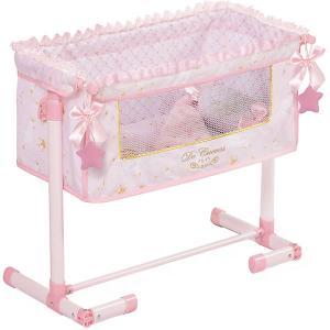 Кроватка для кукол  Мария, 50 см DeCuevas. Цвет: розовый/белый