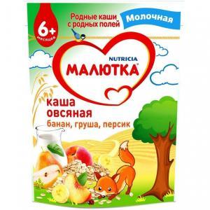 Каша  молочная овсяная с фруктами 6 месяцев 220 г Малютка