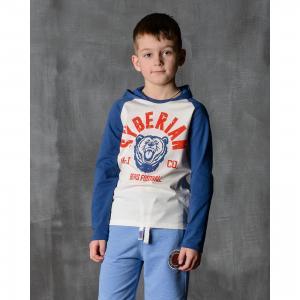 Футболка с длинным рукавом для мальчика Modniy Juk. Цвет: синий