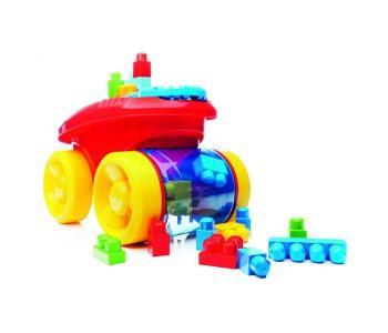 Конструктор  Веселый вагончик для сбора кубиков Mega Bloks