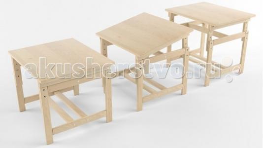 Растущая стол-парта деревянная покрыта лаком Русские игрушки