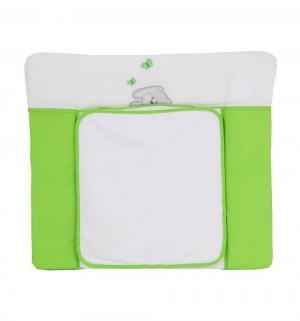 Пеленальная доска  Зайки, цвет: зеленый Polini