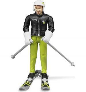 Фигурка  лыжника с аксессуарами 15 см Bruder