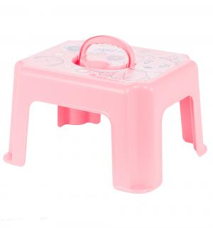 Табурет-подставка  Кошечка, цвет: розовый М-Пластика