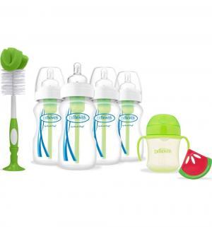 Подарочный набор Dr.Browns 9 предметов полипропилен с рождения, цвет: зеленый Dr.Brown's