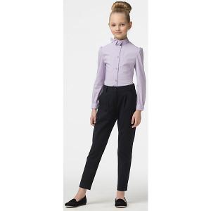 Блузка для девочки Смена. Цвет: лиловый