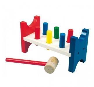 Деревянная игрушка  забивалка Bino