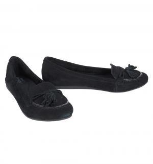 Туфли  Lina Suede Loafer Black, цвет: черный Crocs
